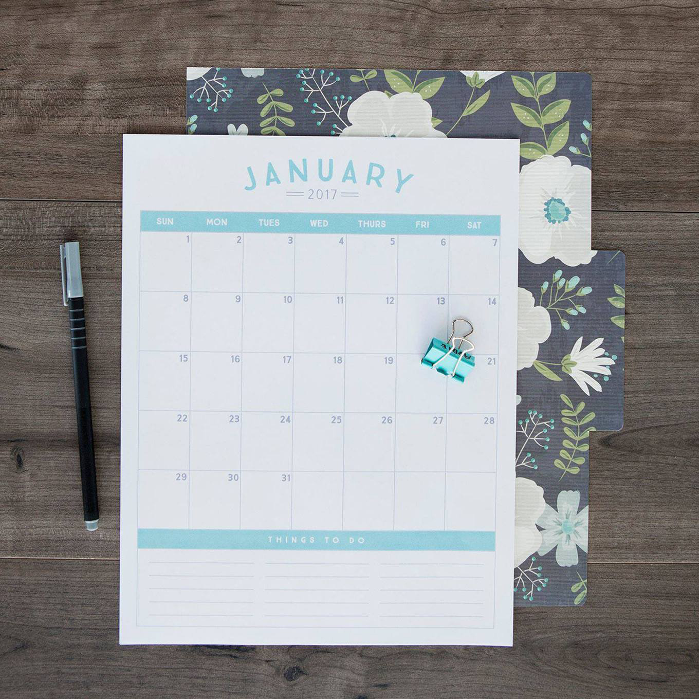 Want to download our FREE 2017 Calendar Printable? Become an exclusive Simple as That member and get instant access!