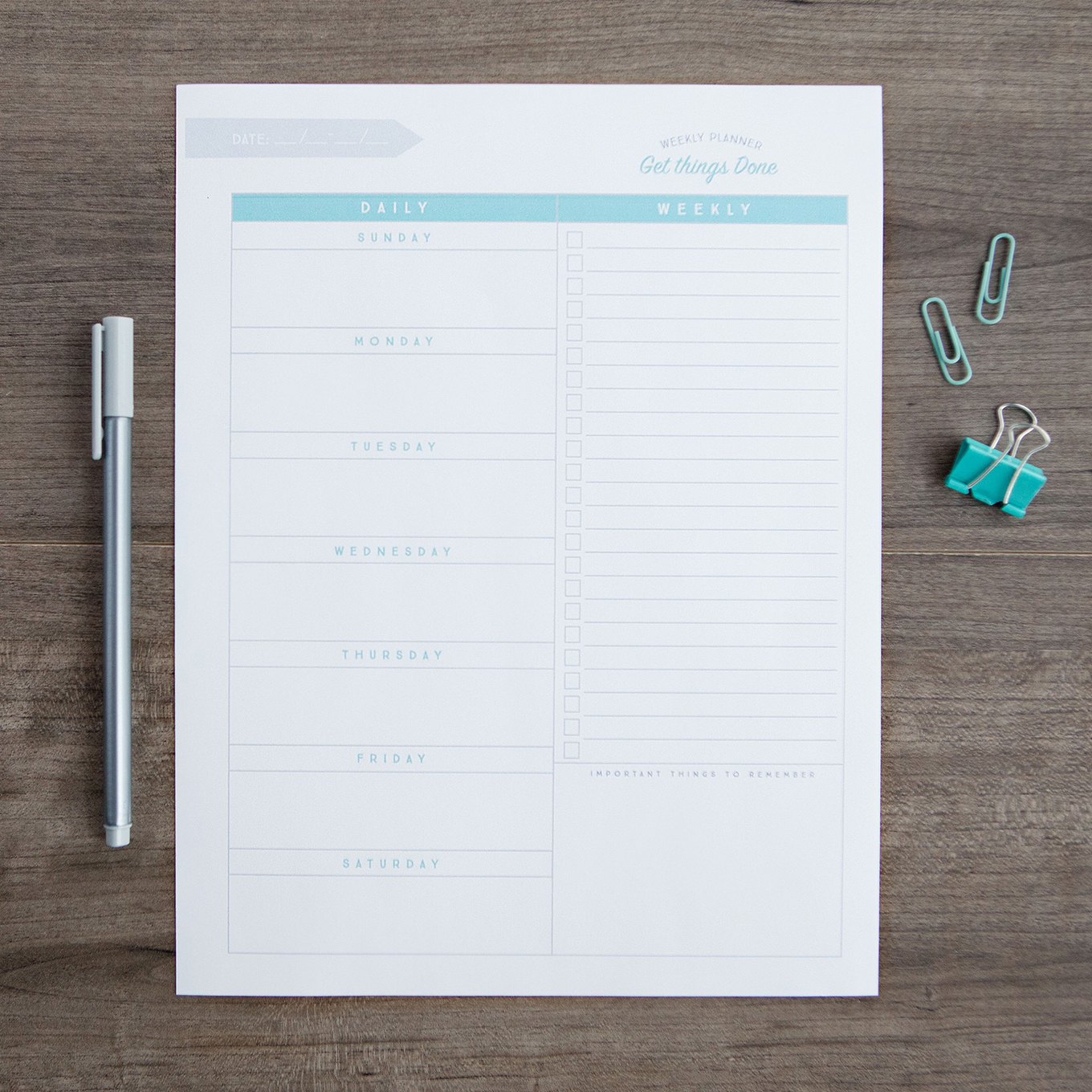 Want to download our FREE Weekly Planner Printable? Become an exclusive Simple as That member and get instant access!